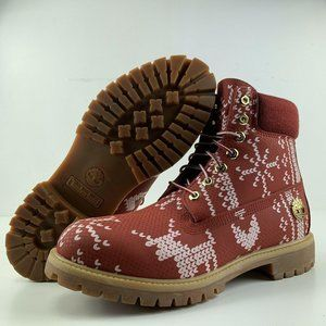 Timberland Boots Size 10 Mens Ugly Sweater Waterpr